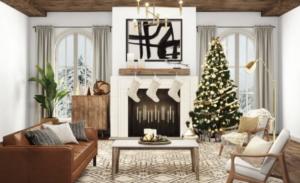 Holiday Stockings Zoom Background
