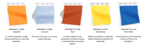 2021 graphic highlighting color trends.